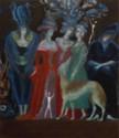 Mystischer Salon Lux, 2007, Öl/Leinwand, 70x60 cm