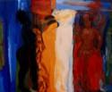 Vier Grazien, 2010, Öl/Leinwand, 100x120 cm