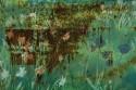 Rostblüten Fotocollage, Direktdruck auf Aludibond, Format DIN A0 (118cm x 84cm)